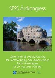 SFSS Årskongress - Svensk förening för sömnforskning och ...