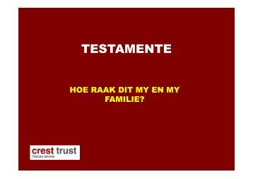 TESTAMENTE - Crest Trust Services