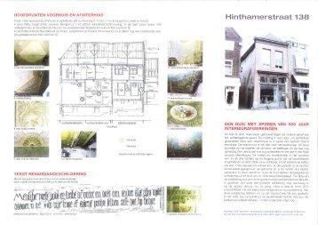 H¡ntharnerstraat 13€} - Vereniging Hendrick de Keyser