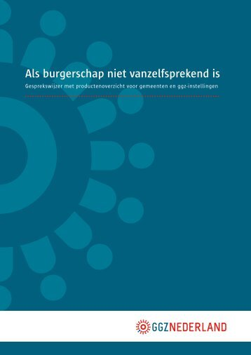 Als burgerschap niet vanzelfsprekend is - GGZ Nederland