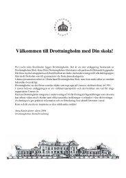 Välkommen till Drottningholm med Din skola! - Sveriges Kungahus