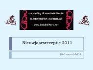 Nieuwjaarsreceptie 2011 - Buddybikers