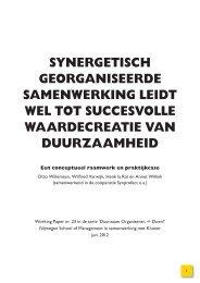 Synergetisch georganiseerde samenwerking leidt - Duurzaam ...