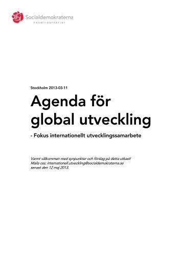 Agenda för global utveckling - Socialdemokraterna