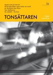 Tonsättaren Nr 1 2005 - FST