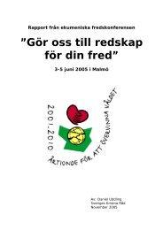 Rapport från fredskonferensen - Sveriges Kristna Råd