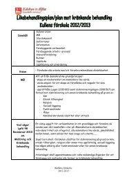 Likabehandlingsplan/plan mot kränkande behandling 2012-2013