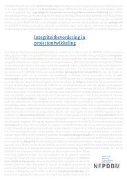 Rapport integriteit in projectontwikkeling - Neprom