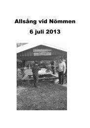 Allsånghäfte 2013-07-06 - 6 Juli 2013