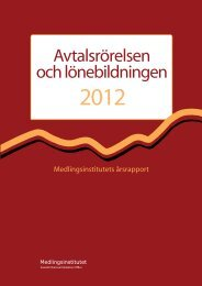 Avtalsrörelsen och lönebildningen 2012 - Medlingsinstitutet