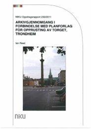 Arkeologisk rapport - Torvet i Trondheim
