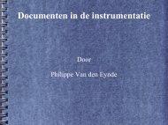 Documenten in de Instrumentatie