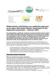 Elektronische uitwisseling van medische gegevens in de regio ...
