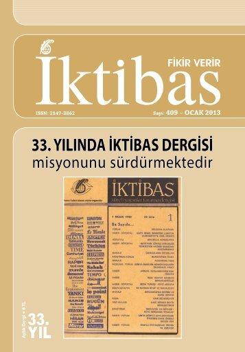 ocak 2013 sayısı - İktibas Dergisi