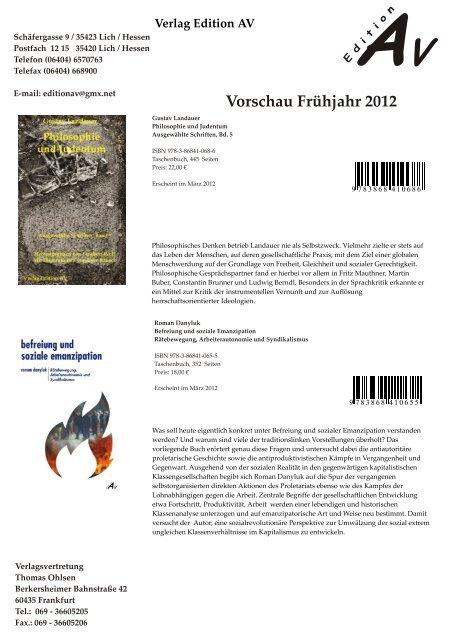 AV Vorschau Frühjahr 2012 - book:fair