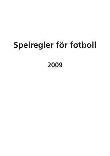 Spelregler för fotboll 2009