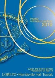 parent information handbook - Loreto Mandeville Hall