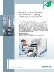 Hvordan kan effekttab i styre- tavler reduceres betydeligt ... - Siemens
