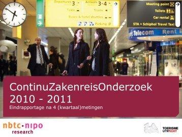 ContinuZakenreisOnderzoek 2010 - 2011 - Utrecht Convention ...