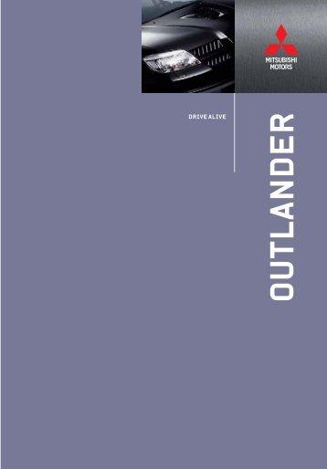 Specifikationer Outlander Turbo (pdf) - Mitsubishi