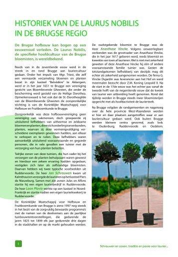 historiek van de laurus nobilis in de brugse regio - Schrauwen en ...