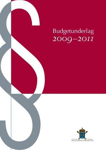 Budgetunderlag 2009-2011.pdf - Åklagarmyndigheten