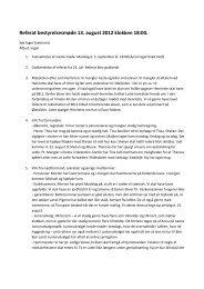 Referat af bestyrelsesmøde d. 13/8 2012
