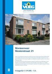 Wormerveer Westerstraat 25 Vraagprijs € 159.000,-- kk - MediaWizard