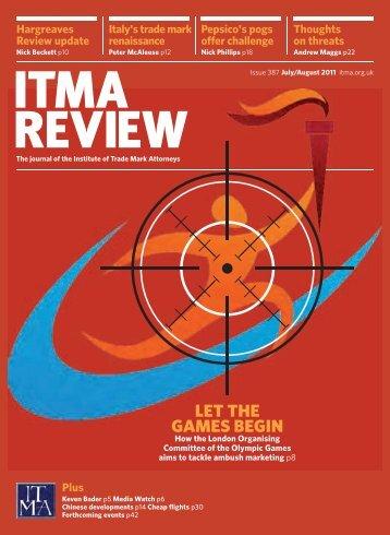 let the games begin - ITMA