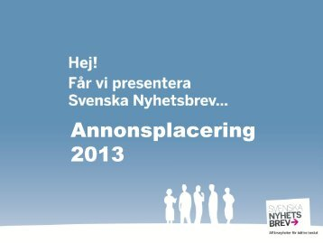 Annonsplacering 2013 - Applicate