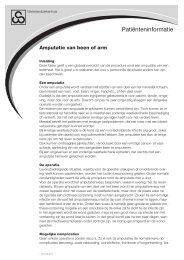 Amputatie van been of arm - Waterlandziekenhuis