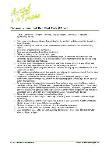 Fietsroute naar het Bali Bird Park (25 km) - Actief in de Tropen