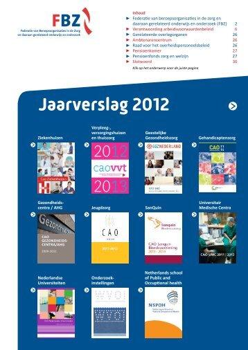 Jaarverslag 2012 - FBZ