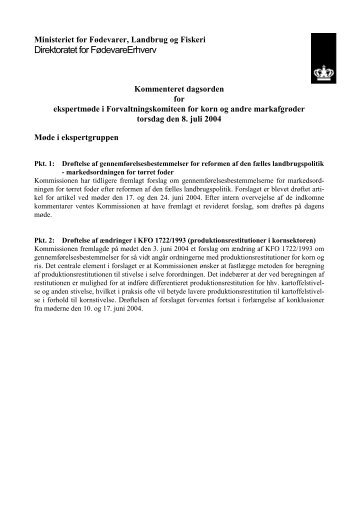 Kommenteret dagsorden for ekspertmøde i Forvaltningskomiteen for ...