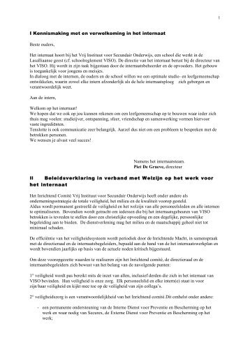 Internaatsreglement 2009 en 2010 nieuwe versie - Viso