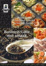 Business Gifts met smaak - Schmidt Zeevis