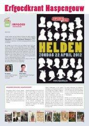 Erfgoedkrant april 2012 - Erfgoedcel Haspengouw