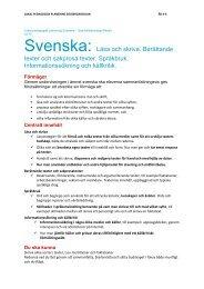 Svenska: Läsa och skriva. Berättande texter och ... - läslust.se