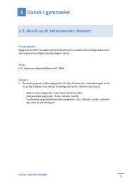 1.3. Dansk og de taksonomiske niveauer - Det ny Forlag