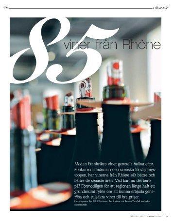 85viner från Rhône - Xavier vins