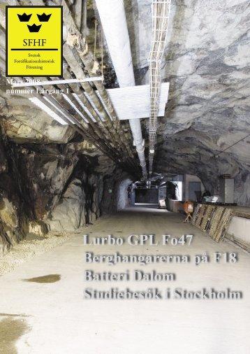 Lurbo GPL Fo47 Berghangarerna på F18 Batteri Dalom ... - Gearhead