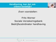 1. Handhaving door de SVB Handhaving