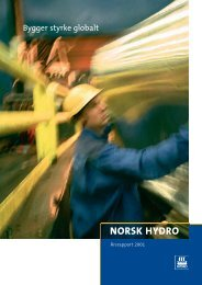 2001 - Norsk Hydro