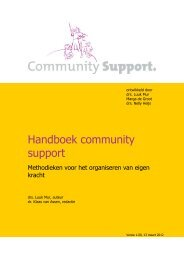 Handboek Community Support