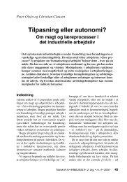 Tilpasning eller autonomi? - Nyt om Arbejdsliv