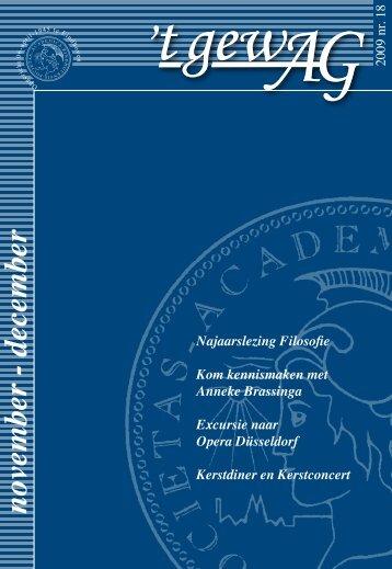 nov/dec - Academisch Genootschap
