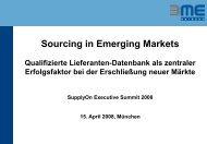 Sourcing in Emerging Markets Qualifizierte Lieferanten ... - SupplyOn
