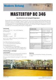 MASTERTOP BC 346 - Modern Betong
