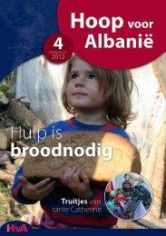 Informatieblad HVA 4 - 2012 - Hoop voor Albanië