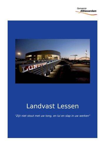 'Landvast Lessen'. - Gemeente Alblasserdam